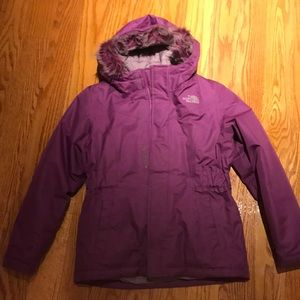 Girls north face winter jacket